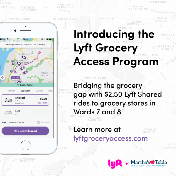 Martha S Table Teams Up With Lyft To Address Barriers To Healthy Food Access Martha S Table